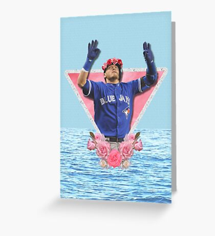 Josh Donaldson - Flower Crown Greeting Card