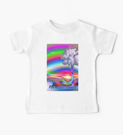 Palmetto rainbow sunset 3 Baby Tee
