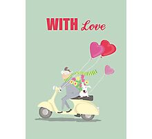 MAN, DOG AND VESPA, WITH LOVE Photographic Print