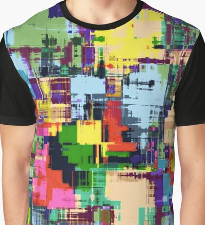 Colorful abstract modern digital painting Graphic T-Shirt