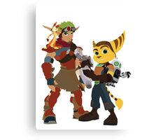 Jakchet and Clankster  Canvas Print