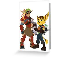 Jakchet and Clankster  Greeting Card