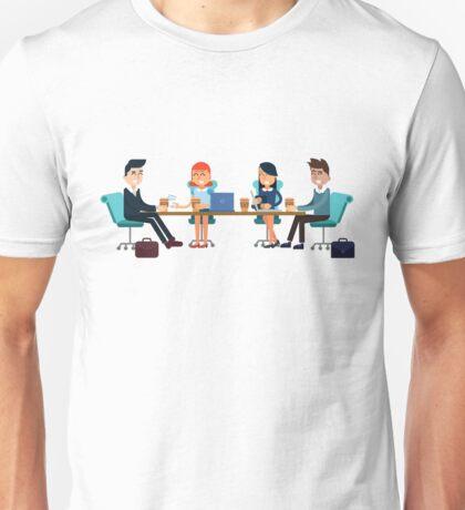Horizontal Banners Business Meeting, Teamwork, Development Unisex T-Shirt