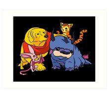 Naga the Poohlar Bear Dog & Friends Art Print