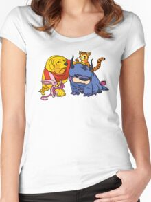 Naga the Poohlar Bear Dog & Friends Women's Fitted Scoop T-Shirt