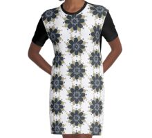 One Fixed Point In a Changing Age Graphic T-Shirt Dress
