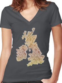 CATography- UK & Ireland (colour) Women's Fitted V-Neck T-Shirt