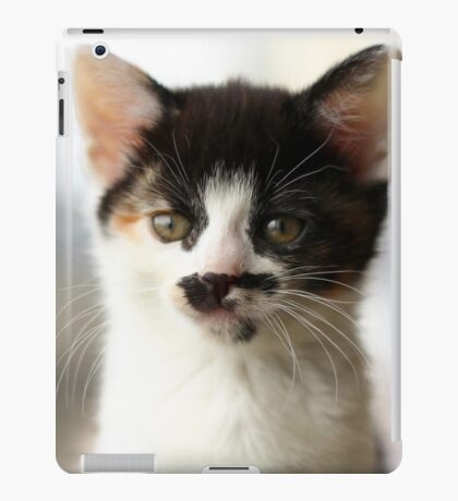 Moustache kitten iPad Case/Skin