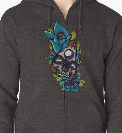 Skeleton Planchette  Zipped Hoodie