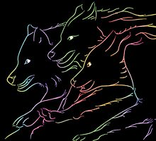 Luminescent Wolves by amgraphics