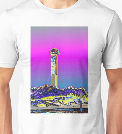 Sullivans Island lighthouse foil, SC Unisex T-Shirt