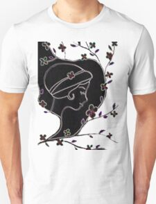 Young girl in a hat Unisex T-Shirt