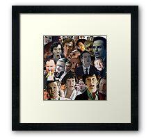 Sherlock Collage Framed Print