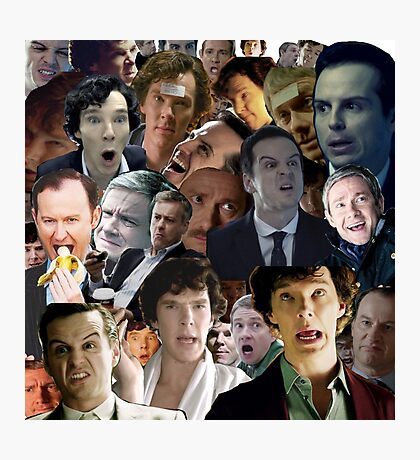 Sherlock Collage Photographic Print