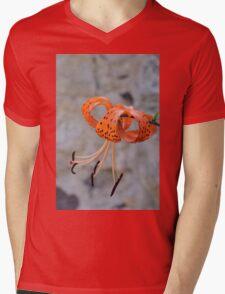 beautiful orange flower Mens V-Neck T-Shirt