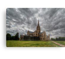 Salisbury Cathedral Exterior Metal Print