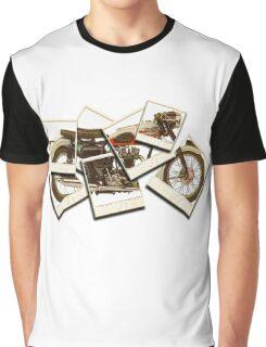 Triumph Bike Polariod Art Graphic T-Shirt