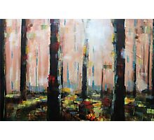 Abstract Tree Forest Painting Photographic Print