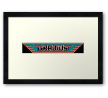 Gradius (NES Title Screen) Framed Print