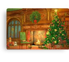 Christmas Fireplace Canvas Print