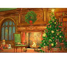 Christmas Fireplace Photographic Print