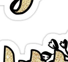 Big Little gold sticker  Sticker