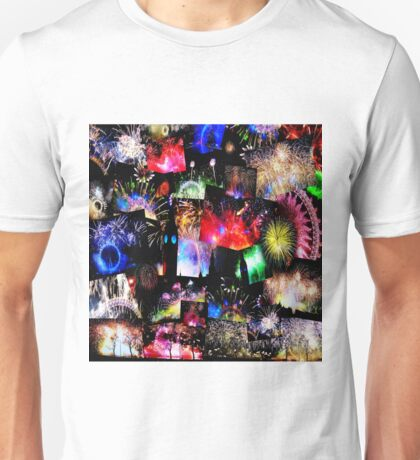 London New Years Eve Fireworks Unisex T-Shirt