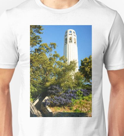Coit Tower the Pinnacle of Telegraph Hill in San Francisco California Unisex T-Shirt