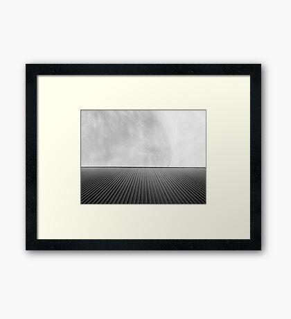 Sky Lines | #BlackandWhite | @ag_exposed Framed Print