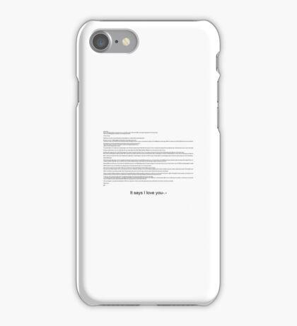 Sarcasm text  iPhone Case/Skin