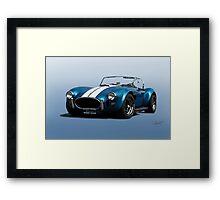 1966 Shelby Cobra 427 'Blue on Blue' Framed Print