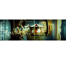 Carousel and Sea Photographic Print