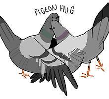 pigeon hug by notmusa