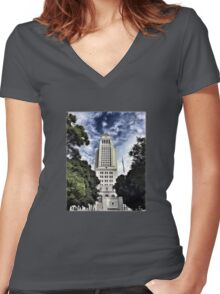 City Hall Women's Fitted V-Neck T-Shirt