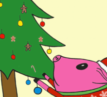 PiGgy is ready for Christmas! Sticker