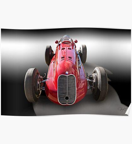 1939 Maserati 8CTF Race Car I Poster