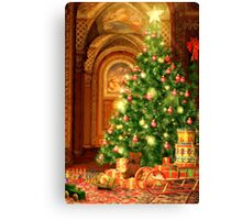 Christmas Tree and Presents Canvas Print