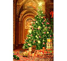 Christmas Tree and Presents Photographic Print
