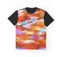 Sunset Clouds - Contemporary Digital Abstract Graphic T-Shirt