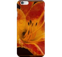 Closeup Wth A Vibrant Orange Lily Abstract Flower iPhone Case/Skin