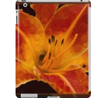 Closeup Wth A Vibrant Orange Lily Abstract Flower iPad Case/Skin