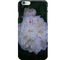 White Peony And Companion Abstract Flower Painting iPhone Case/Skin