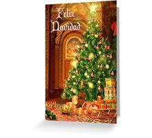 Fireplace Christmas Card - Feliz Navidad Greeting Card