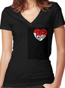 True Love Women's Fitted V-Neck T-Shirt