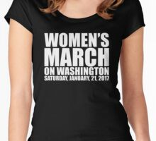 Womens March on Washington official t-shirt Women's Fitted Scoop T-Shirt