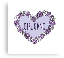 Girl Gang Floral Heart Canvas Print