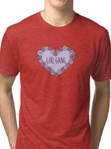 Girl Gang Floral Heart Tri-blend T-Shirt