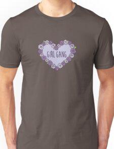 Girl Gang Floral Heart Unisex T-Shirt