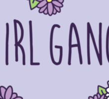 Girl Gang Floral Heart Sticker