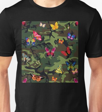 butterfly camouflage Unisex T-Shirt